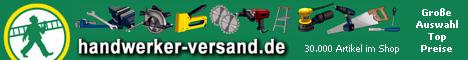 handwerker-versand.de - Ihr Online-Shop für BOSCH, Metabo, Makita, Einhell, Werkzeug, Handwerkzeug