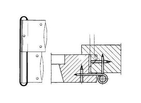Simonswerk Fensterbänder verzinkt C 2 100 mm links bei handwerker-versand.de günstig kaufen