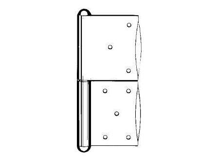 Simonswerk Türbänder verzinkt G 1 140 mm rechts Lieferumfang: 10 Stück