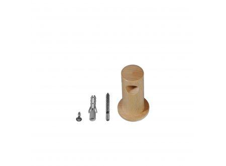 Liedeco Träger einläufig für Gardinenstangen aus Holz Prima ø 12 mm bei handwerker-versand.de günstig kaufen