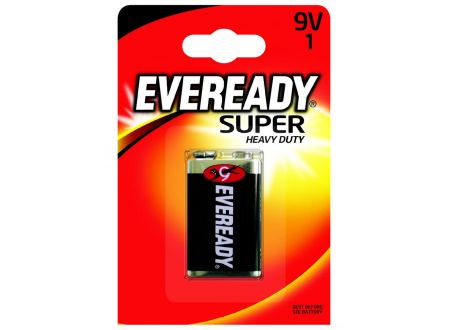 Batterie E-Block 9V Eveready Super Heavy Duty