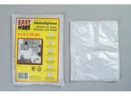 Easy Work Abdeckfolie, transparent, 0,007mn, 4x 5m