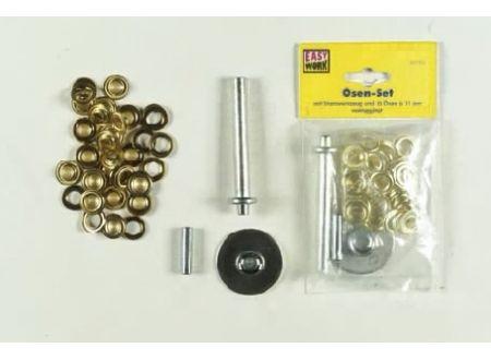 Easy Work Oesenset, 100 Ösen a 11mm, vermessingt bei handwerker-versand.de günstig kaufen