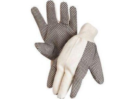 EDE Baumwollköper-Handschuh, schwarz, mit Strickbund, genoppt bei handwerker-versand.de günstig kaufen