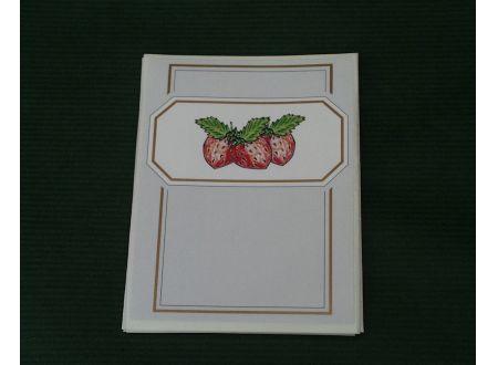 Vierka 10 Etiketten selbstklebend Motiv Erdbeer bei handwerker-versand.de günstig kaufen