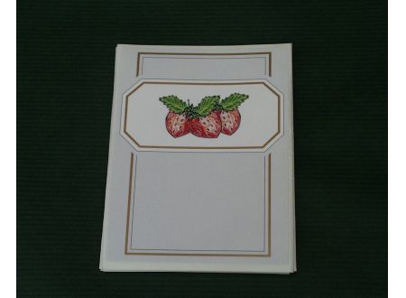 10 Etiketten selbstklebend Motiv Erdbeer