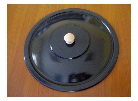 Deckel für Gulaschkessel 22L emailliert, granit dunkel