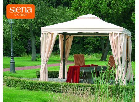 siena garden pavillon dubai 300 x 300 cm anthrazit natur kaufen. Black Bedroom Furniture Sets. Home Design Ideas