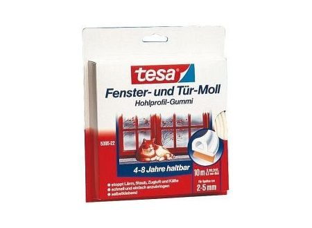 Tesa Powerstrips-Profil-Dichtung weiß 10m 2-5mm tesa 5395
