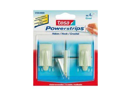 Tesa Powerstrips Haken Small Oval beige