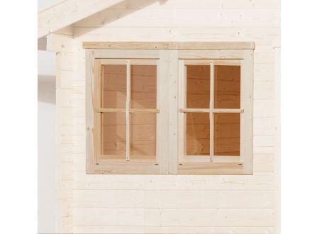 Weka Doppelfenster für Gartenhaus 45 mm