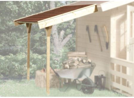 Weka Schleppdach für Gartenhaus ab Haustiefe 300 cm