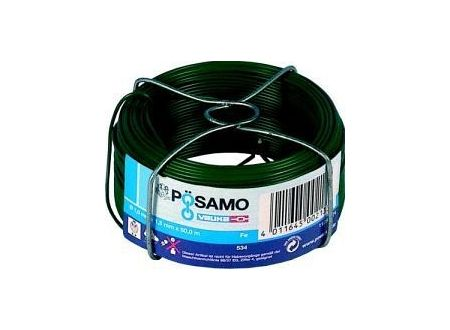 Pösamo Draht PVC grün 1,0 x 1,5 a 50m auf Spule kaufen