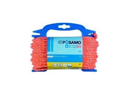 Seil gedreht PPD-6mm a 20m orange auf Haspel