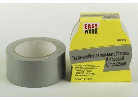 Easy Work Textilverstärktes wasserresistentes Klebeband 50mm:25m bei handwerker-versand.de günstig kaufen