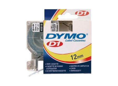 Dymo 45010 Schriftbänder schwarz/transparent 12mmx7m 1 Stück bei handwerker-versand.de günstig kaufen