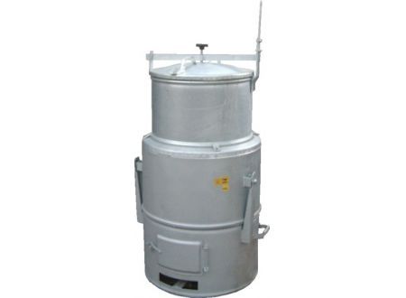 Kohledämpfer 160 Liter, verzinkt