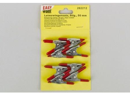 Easy Work Leimzwingenset 8teilig 50mm verzinkt Stahlblech bei handwerker-versand.de günstig kaufen