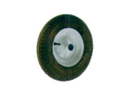Luftrad mit Metallfelge und Achse 400 x 100 mm