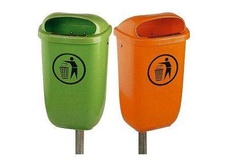 EDE Papierkorb 50 l Kunststoff grün 1 Stück