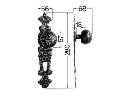 HS Rowe Knopflangschild Nr. 316/208H Profilzylinder Ei Rowe