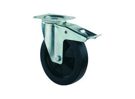 BS Rollen Schwerlast-Lenkrolle 200mm mit Feststeller L120.B60.200