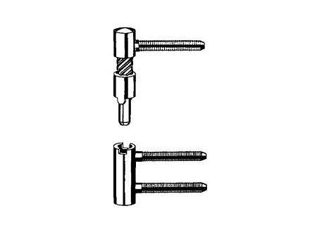 Simonswerk 2 Baka-Bänder rechts V 5450 vernickelt Lieferumfang: 2 Stück