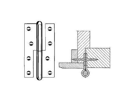 Simonswerk Aufsatzband Q1 160mm verzinkt DIN Rechts bei handwerker-versand.de günstig kaufen