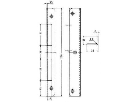 KFV Winkel-Schließblech DIN rechts Nr. 15-3E hell verzinkt bei handwerker-versand.de günstig kaufen