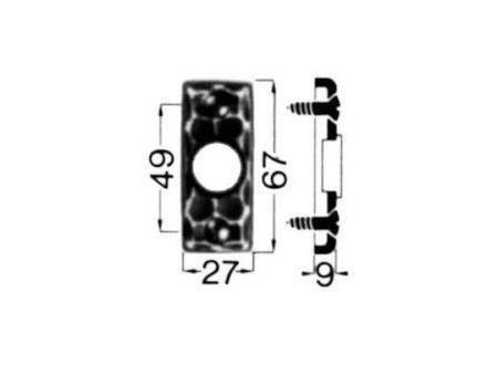 HS Rowe Drücker-Rosette Nr. 282 Ei Rowe bei handwerker-versand.de günstig kaufen