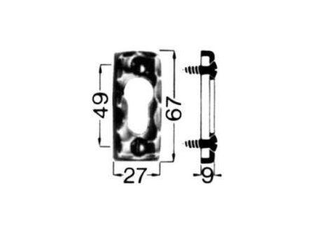 HS Rowe Schlüssel-Rosette Nr. 283 Profilzylinder Ei Rowe bei handwerker-versand.de günstig kaufen