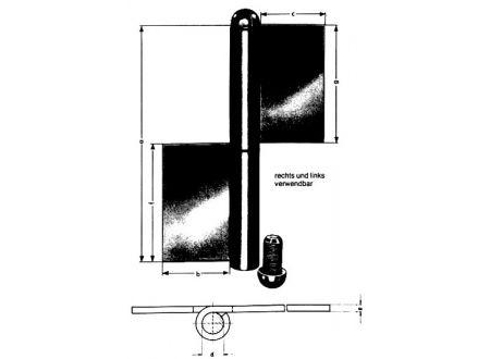 Simonswerk Konstruktionsbänder blank KO 4 160/ 4 mm bei handwerker-versand.de günstig kaufen