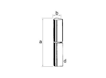 Profilrollen Ko 50 Flachkopf mit Stahlstift 100 mm 25 Stück Lieferumfang: 25 Stück