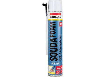 EDE Soudafoam B1 PU-Schaum 750 ml, (MDI) SOUDAL Lieferumfang: 12 Stück