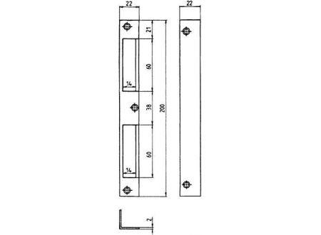 EDE HTW Blech 22x22x200 abgerrs/ls verwendbar bei handwerker-versand.de günstig kaufen