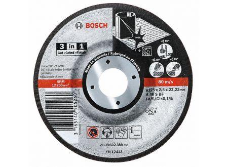 Bosch 3-in-1-Scheibe 125 x 2,5mm gekröpft 25 Stück bei handwerker-versand.de günstig kaufen