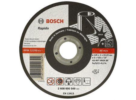 Bosch Trennscheibe 115X1,6 mm für INOX ger. 25 Stück bei handwerker-versand.de günstig kaufen