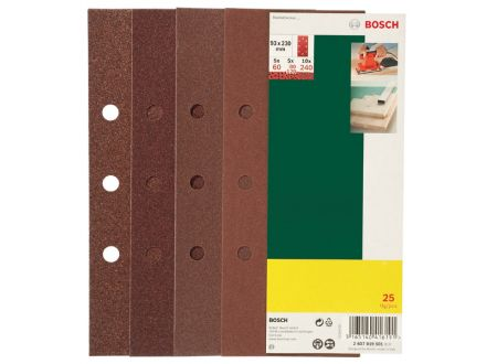 Bosch 25-teiliges Schleifblatt-Set für Schwingschleifer, gespann bei handwerker-versand.de günstig kaufen