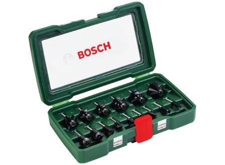Bosch HM-Fräserset 6,3mm (1/4) Schaft 15tlg.