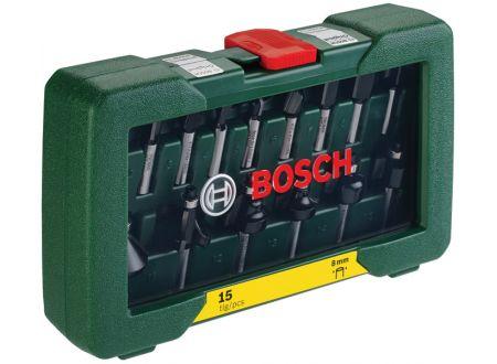 Bosch HM-Fräserset 8mm Schaft, 15tlg