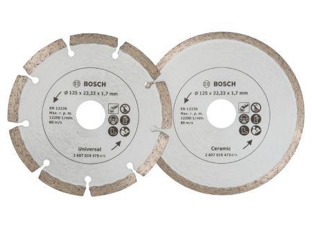 Bosch 2 Diamant Trennscheiben 125mm Baum+Fl. bei handwerker-versand.de günstig kaufen