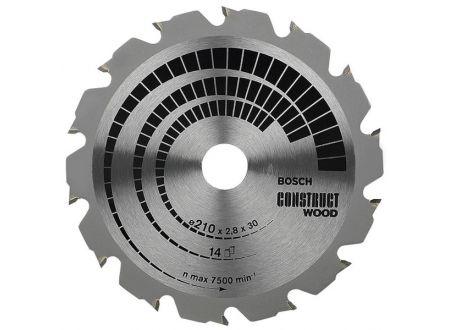 Bosch Kreissägeblatt 210x30 14FWF construct SB2,8 bei handwerker-versand.de günstig kaufen
