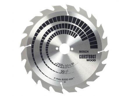 Bosch Kreissägeblatt 250x30 FWF 20 NL constru wood