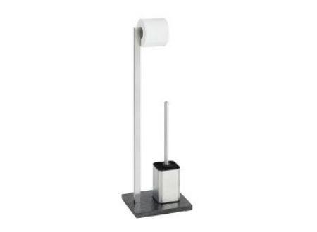 Wenko Slate Rock Stand WC-Garnitur Edelstahl schiefer bei handwerker-versand.de günstig kaufen