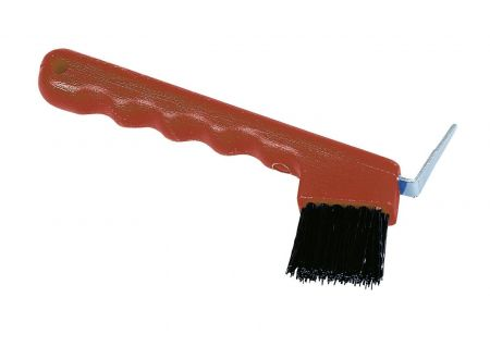 Kerbl Hufauskratzer mit Bürste rot bei handwerker-versand.de günstig kaufen
