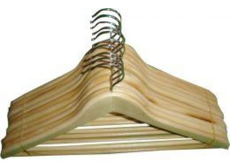 Konfektionsbügel mit Steg gewinkelt Holz