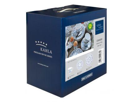 Kahla/Thüringer Porzellan Kahla Blau Saks Kaffeeset 18 tlg.