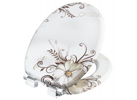 WC Sitz CONMETALL brown flower Absenkautomatik