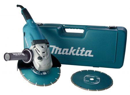 Makita Winkelschleifer 230 mm im Koffer inkl. 2 Diamantscheiben bei handwerker-versand.de günstig kaufen