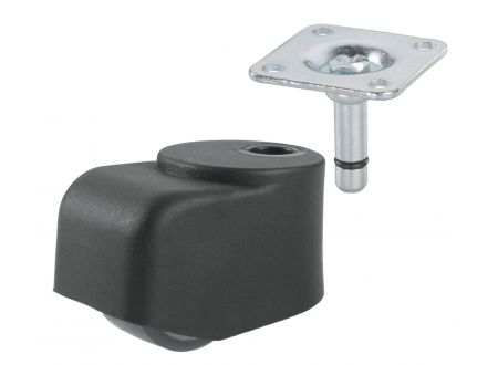 Dörner+Helmer Einfach-Walzenrolle 25mm, KS schwarz, bei handwerker-versand.de günstig kaufen